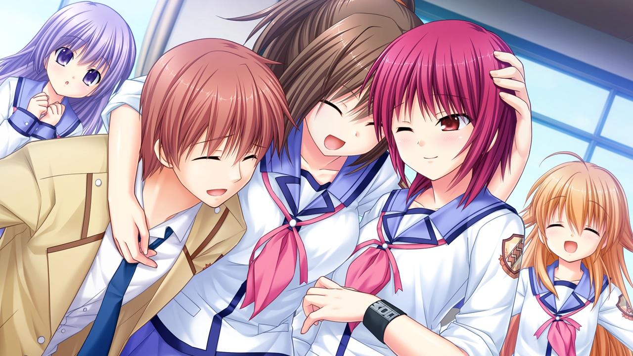 angel_beats! game_cg group hisako irie_miyuki iwasawa_masami key male na-ga otonashi_yuzuru sekine_shiori