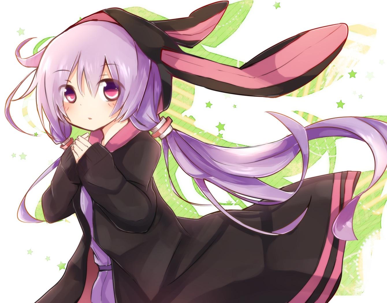 hoodie long_hair purple_eyes purple_hair tosura-ayato vocaloid voiceroid yuzuki_yukari