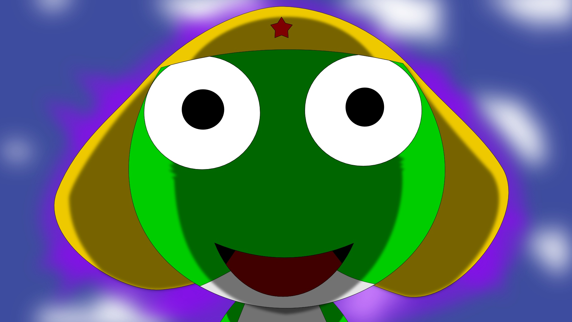 close keroro_gunsou sergeant_keroro vector