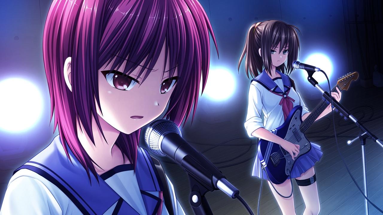 angel_beats! game_cg guitar hisako instrument iwasawa_masami key na-ga school_uniform