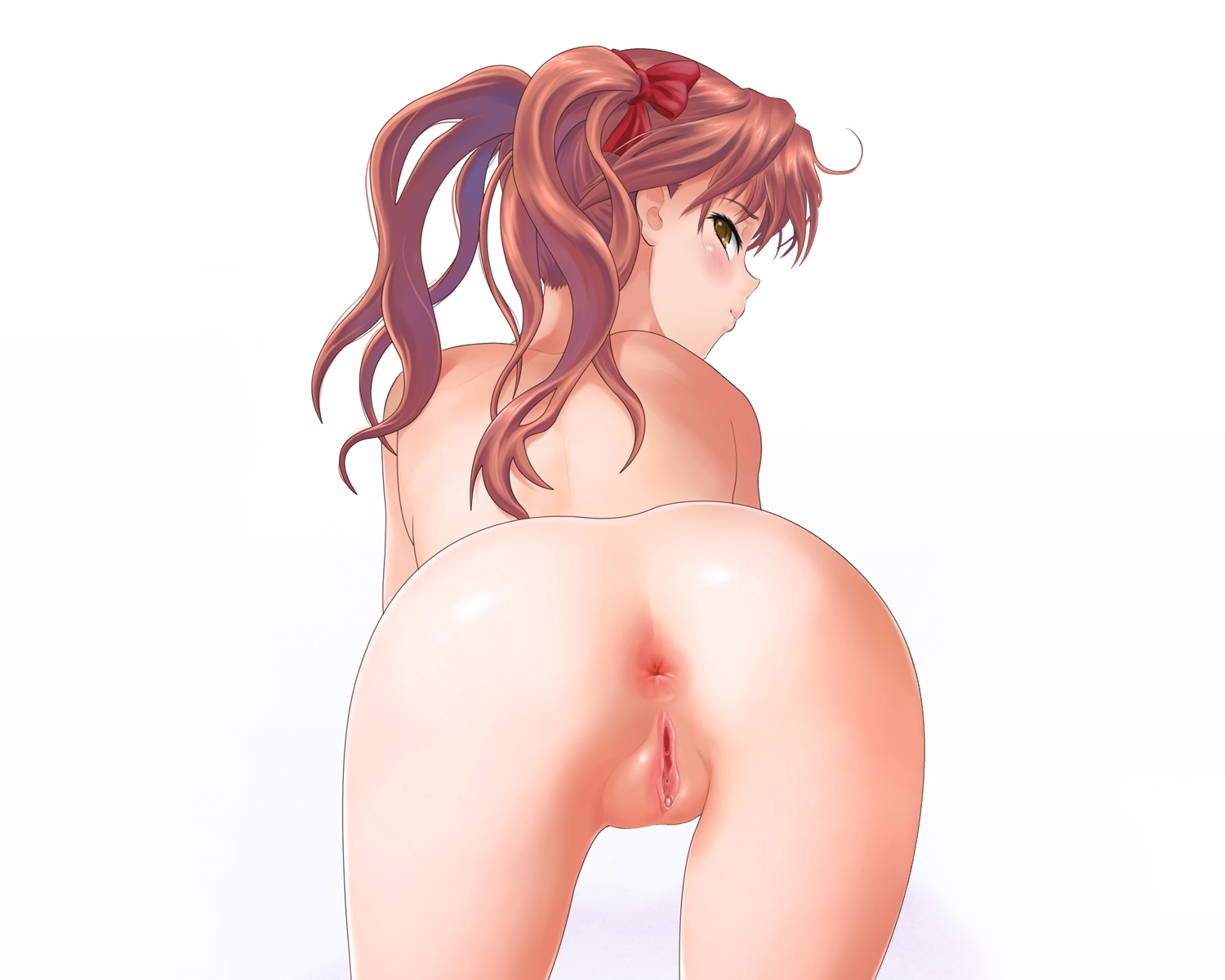 anus ass blush brown_hair long_hair misakamitoko0903 nude photoshop pussy shirai_kuroko to_aru_kagaku_no_railgun to_aru_majutsu_no_index twintails uncensored white yellow_eyes