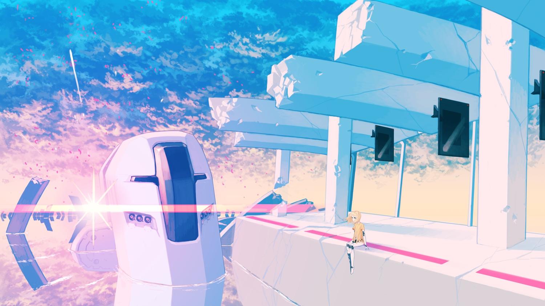 asgr landscape original robot scenic techgirl water