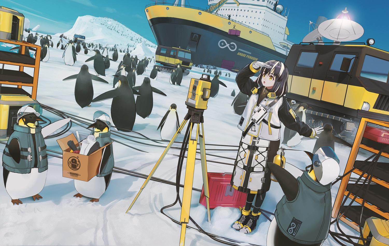 animal arknights codec007 magallan_(arknights) penguin