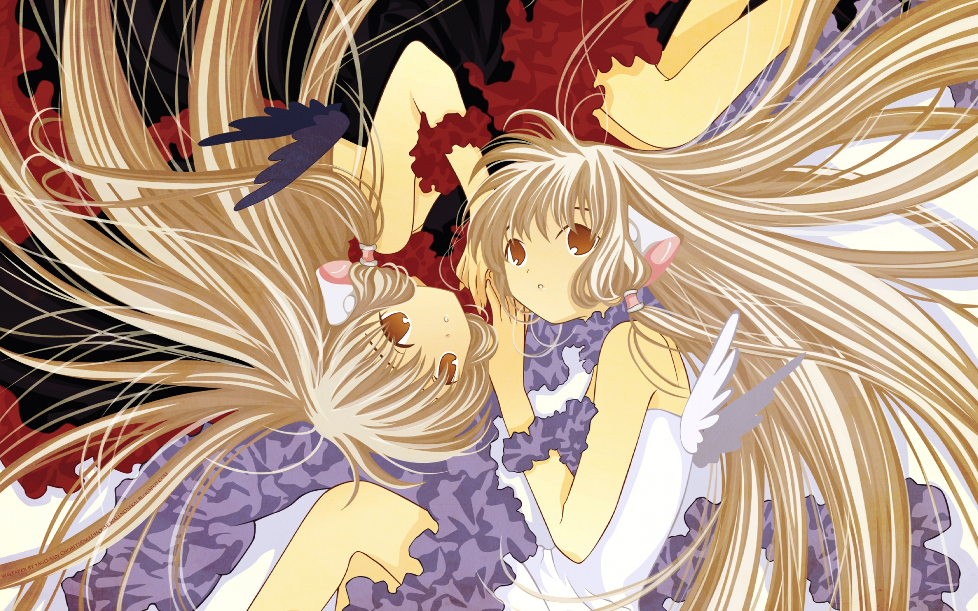 blonde_hair chii chobits clamp freya long_hair