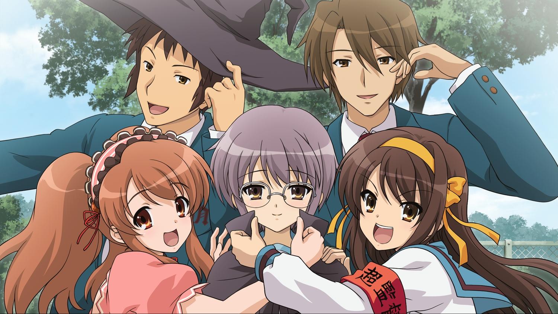 asahina_mikuru game_cg group hat headband koizumi_itsuki kyon male nagato_yuki ribbons suzumiya_haruhi suzumiya_haruhi_no_tsuisou suzumiya_haruhi_no_yuutsu