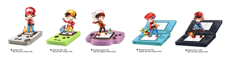 all_male chibi game_console hat hibiki male mudkip node pikachu pokemon red_(pokemon) tepig totodile touya turtwig yuuki_(pokemon)