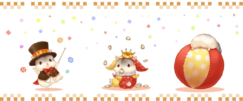 animal ball bow collar crown food hat nobody original waifu2x wand yutaka_kana