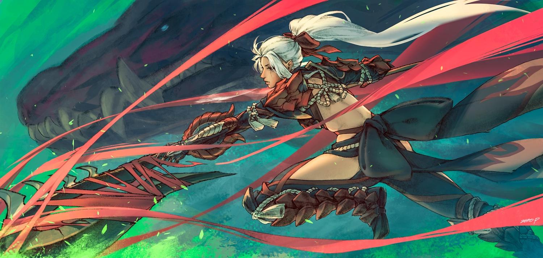 Armor Bow Dragon Long Hair Monster Hunter Monster Hunter World