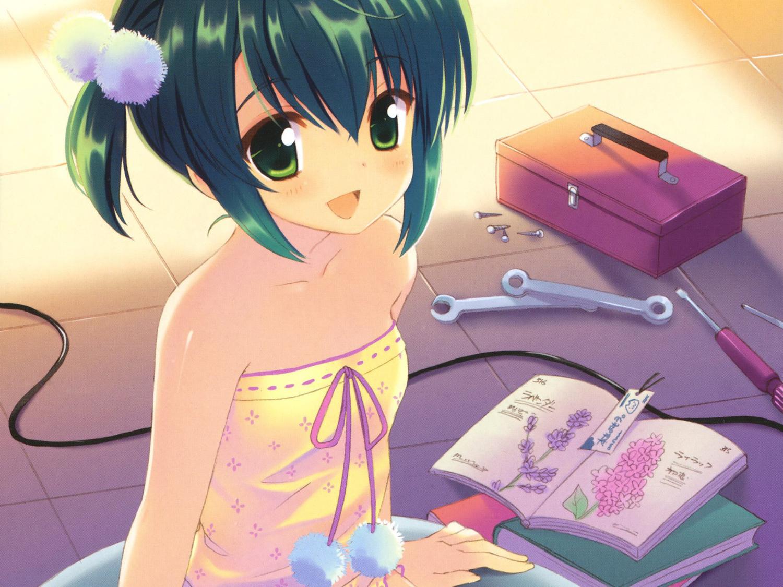 blush book green_eyes green_hair hiiragi_noa mm! ohara_tometa short_hair