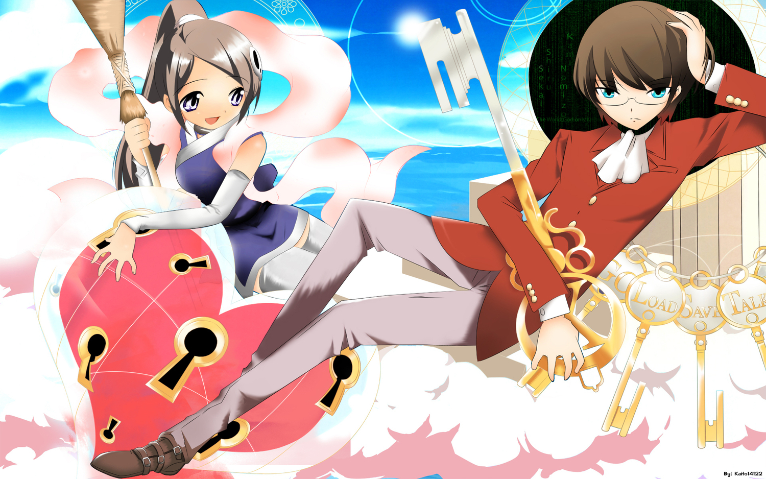 elsee_de_ruth_ima katsuragi_keima the_world_god_only_knows