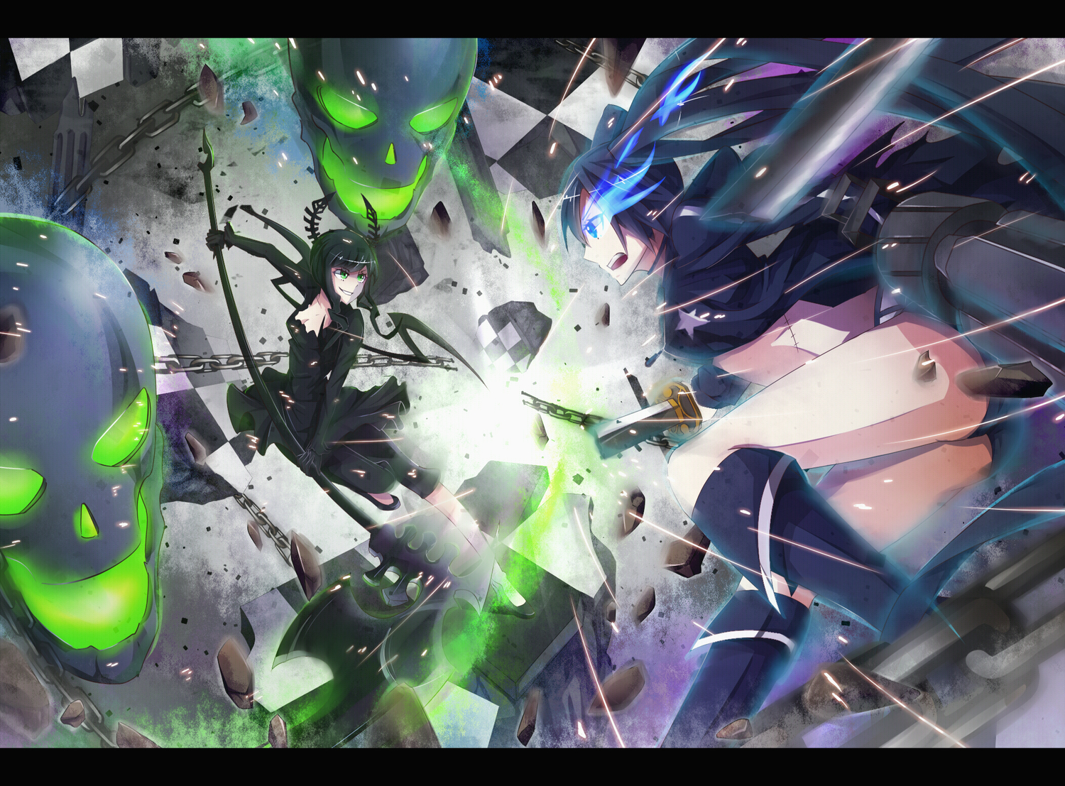 black_rock_shooter kuroi_mato paparins takanashi_yomi