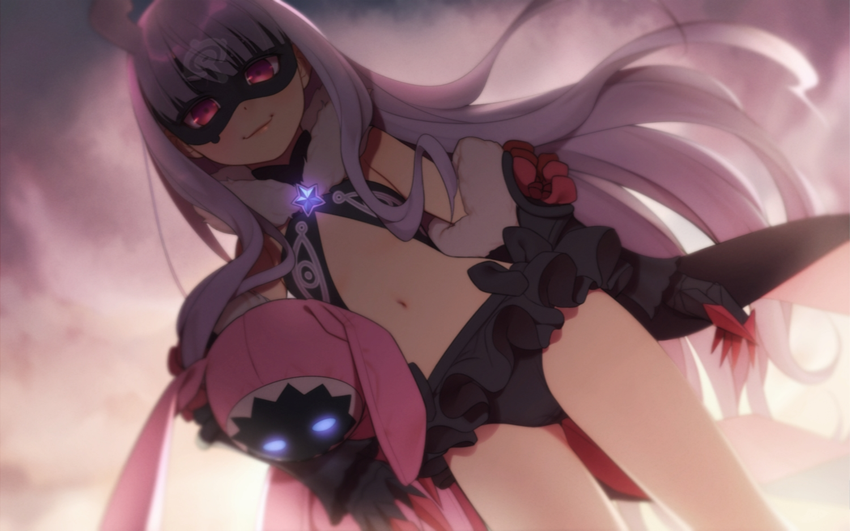 armor bunny cameltoe e7_(runaway162) hoshimiya_kate long_hair mask purple_eyes purple_hair sekai_seifuku:_bouryaku_no_zvezda
