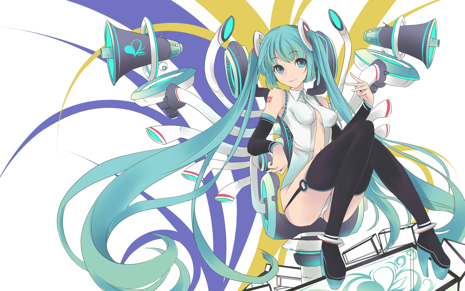blue_eyes blue_hair faefaea hatsune_miku jpeg_artifacts long_hair miku_append twintails vocaloid