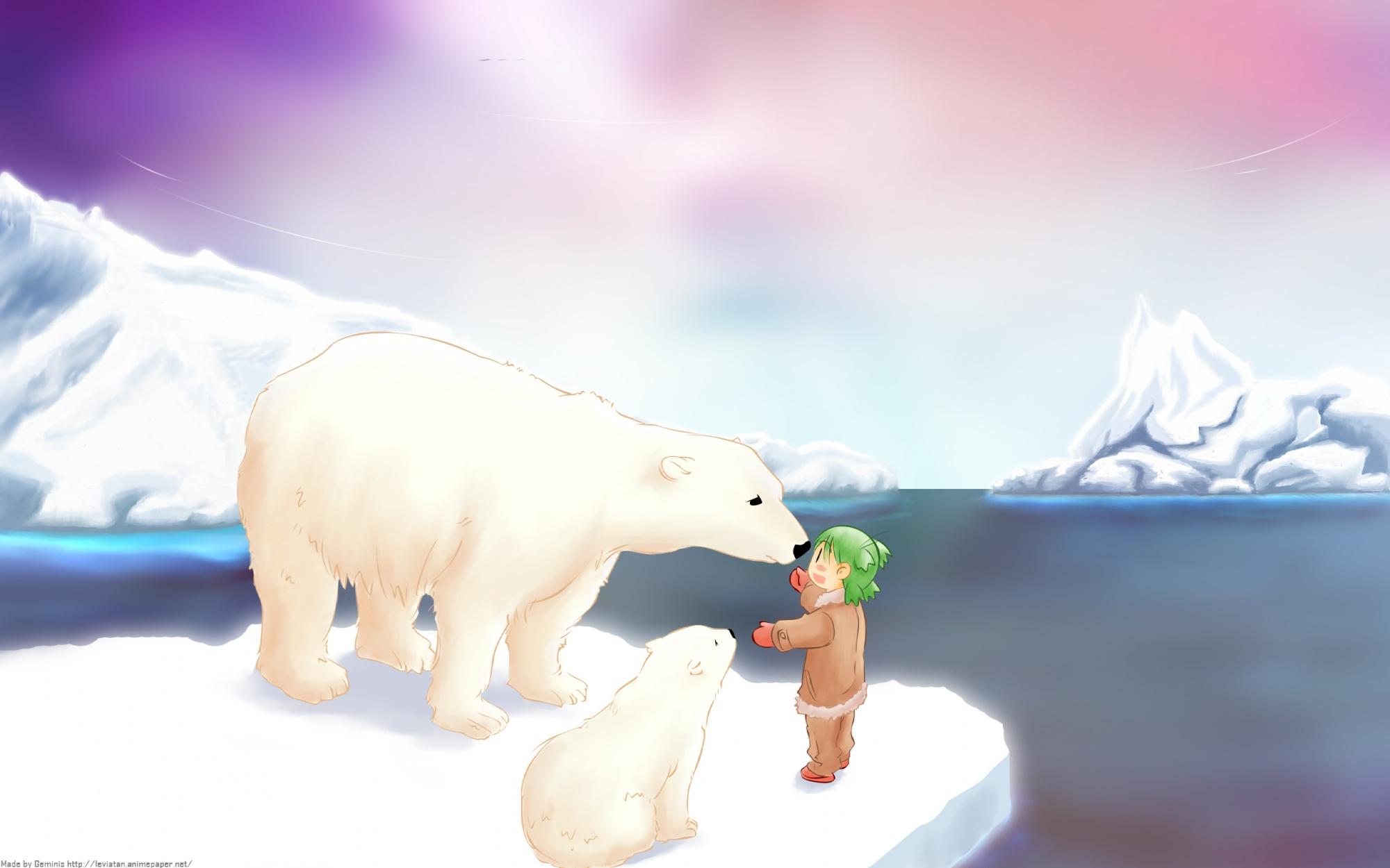 animal bear koiwai_yotsuba landscape scenic yotsubato!