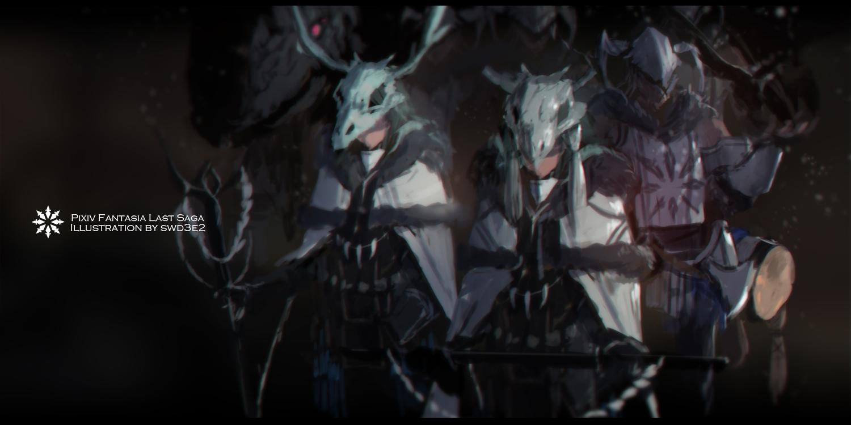armor dark group original pixiv_fantasia sketch swd3e2 watermark