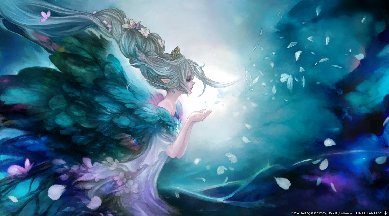 final_fantasy final_fantasy_xiv gray_hair long_hair square_enix tagme_(artist) titania_(final_fantasy)