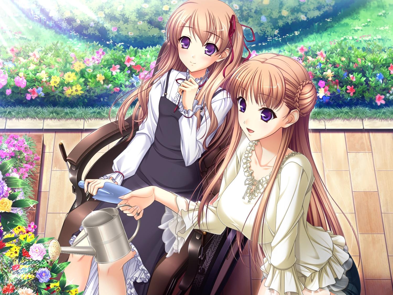 brown_hair dress game_cg komori_kei long_hair mireille_marres_ascot noel_marres_ascot ricotta walkure_romanze