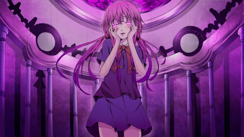gasai_yuno mirai_nikki pink_eyes pink_hair purple reio_(reio_reio) tagme