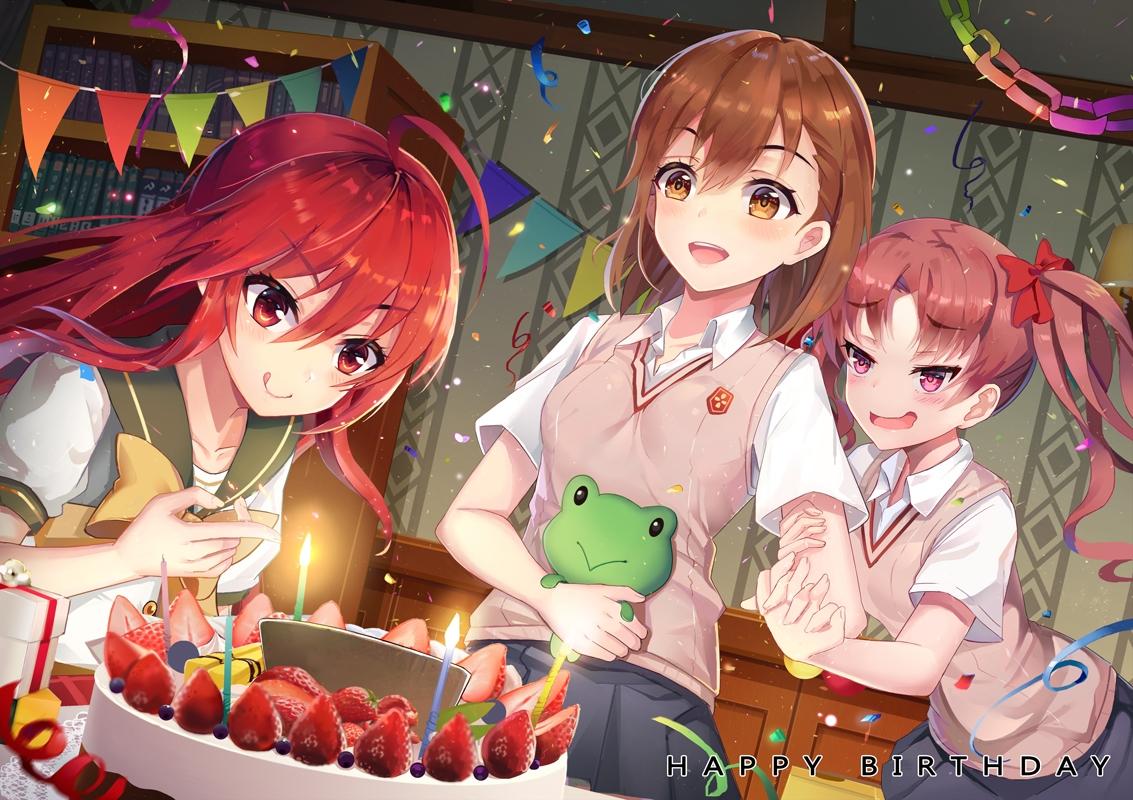 crossover misaka_mikoto shakugan_no_shana shana shirai_kuroko tagme_(artist) to_aru_kagaku_no_railgun to_aru_majutsu_no_index