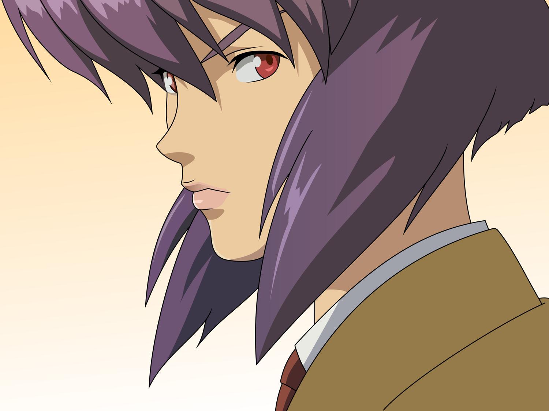 ghost_in_the_shell kusanagi_motoko purple_hair red_eyes