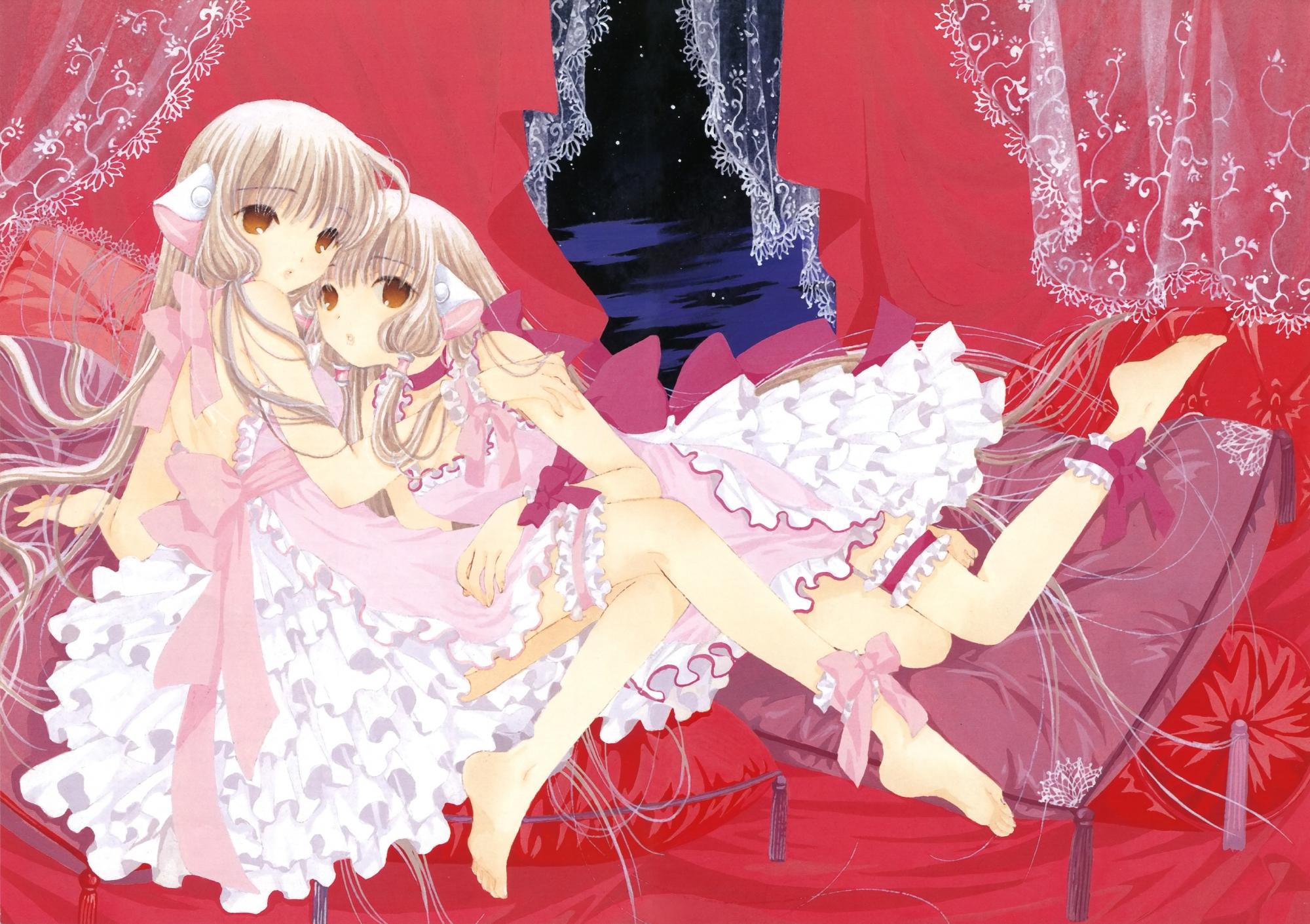 2girls chii chobits clamp freya lolita_fashion scan