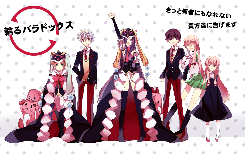 akise_aru amano_yukiteru cosplay gasai_yuno kasugano_tsubaki male mawaru_penguindrum mirai_nikki nishinomiya_saku parody