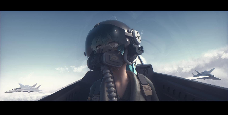 3d aircraft bangeningmeng close clouds mask original sky