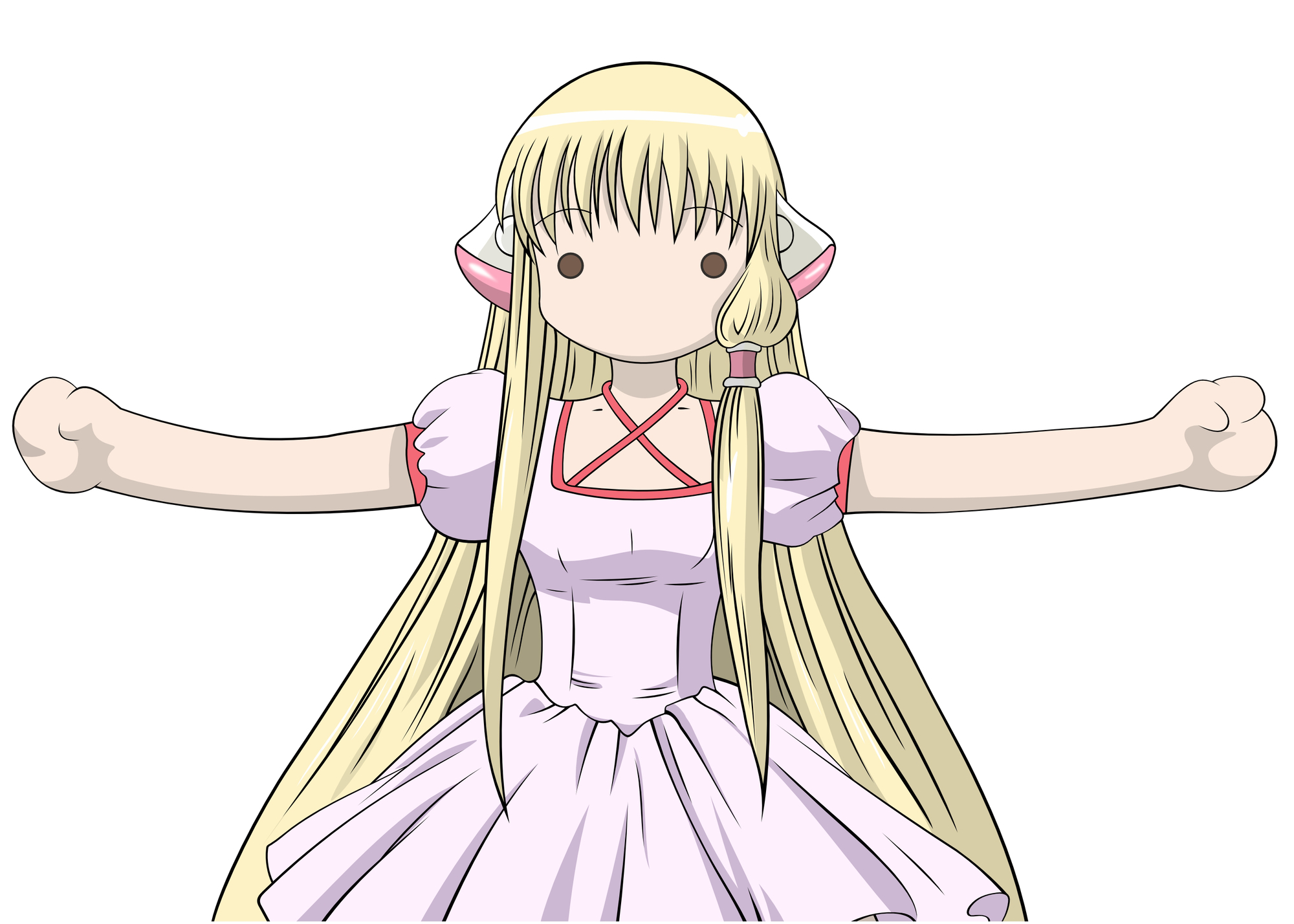 chii chobits dress long_hair