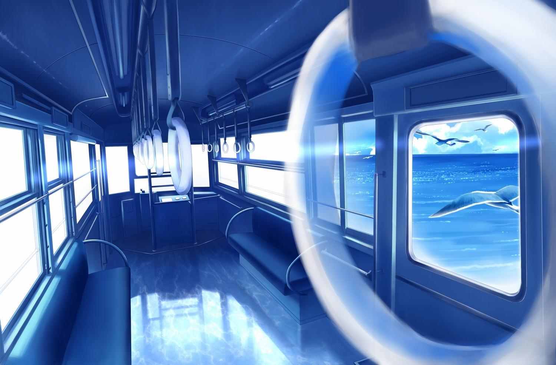 animal bird blue gensuke nobody original polychromatic scenic train water