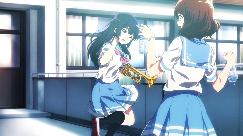 hibike!_euphonium kousaka_reina long_hair oumae_kumiko school_uniform short_hair tagme woori_(jtfy3485)