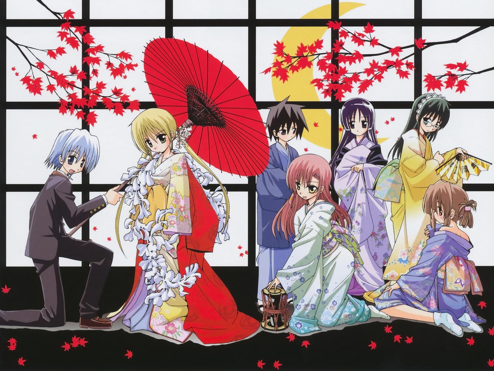 ayasaki_hayate group hata_kenjirou hayate_no_gotoku japanese_clothes katsura_hinagiku kijima_saki kimono male maria_(hayate_no_gotoku) saginomiya_isumi sanzenin_nagi tachibana_wataru