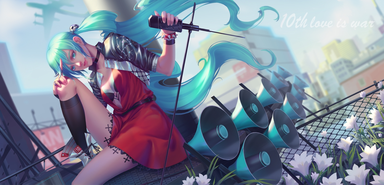 hatsune_miku long_hair realistic tagme_(artist) twintails vocaloid