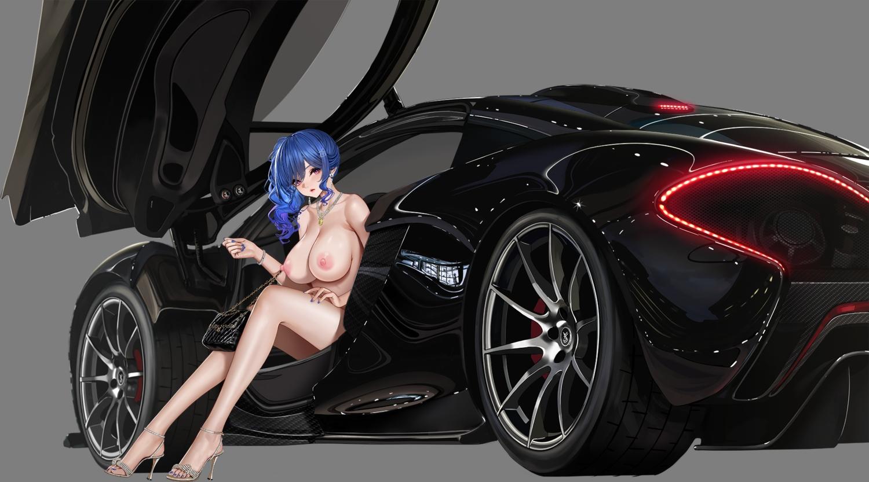 anthropomorphism azur_lane breasts car nipples nude st._louis_(azur_lane) third-party_edit transparent yunsang