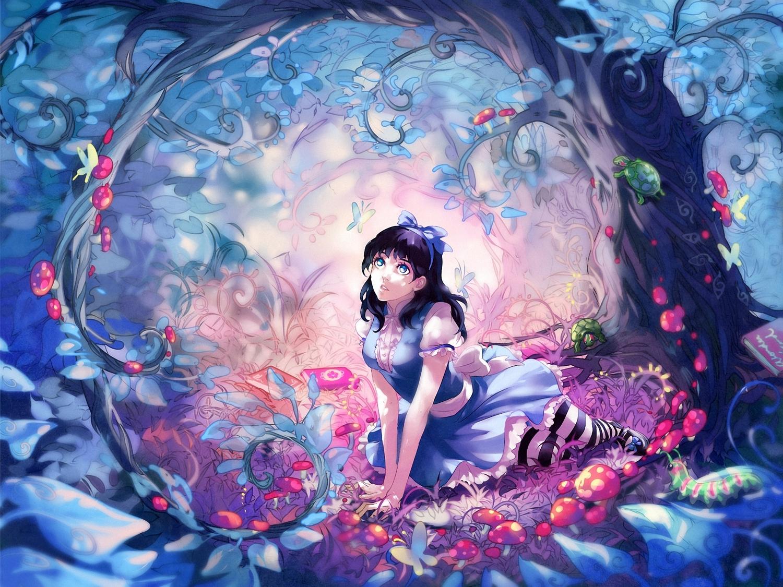 Alice In Wonderland Blue Eyes Wenqing Yan Yuumei Art Konachan