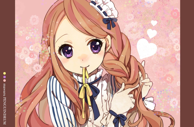 jamijami long_hair mawaru_penguindrum purple_eyes takakura_himari