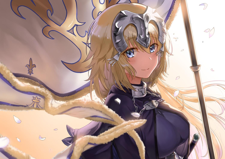 armor ayul_(ayulneri_92) close fate/grand_order fate_(series) jeanne_d'arc_(fate) sword weapon