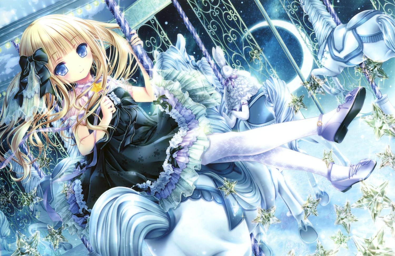 blonde_hair bunny candy doll goth-loli loli lolita_fashion lollipop long_hair scan stockings tinkerbell tinkle