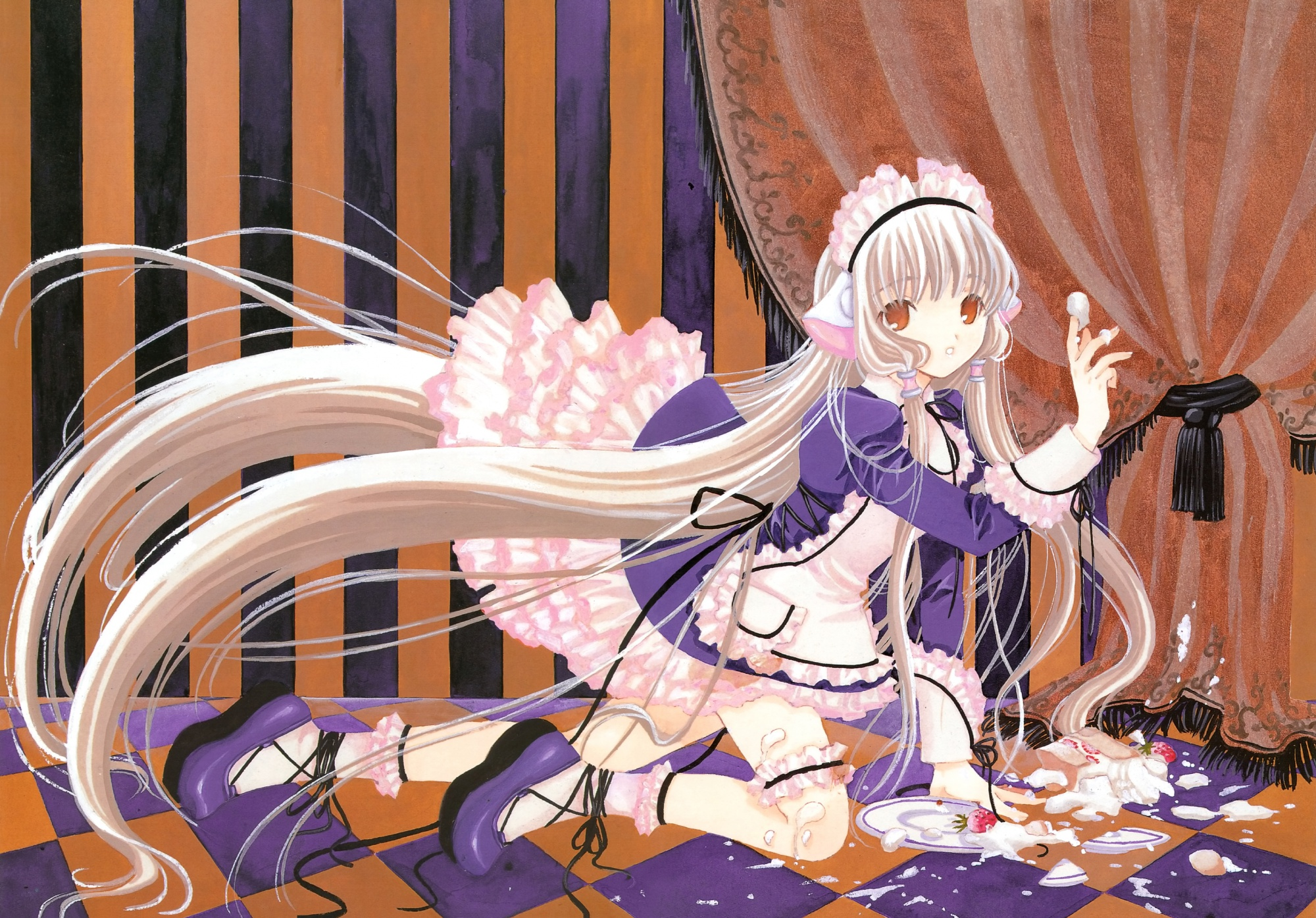 chii chobits clamp food scan waitress