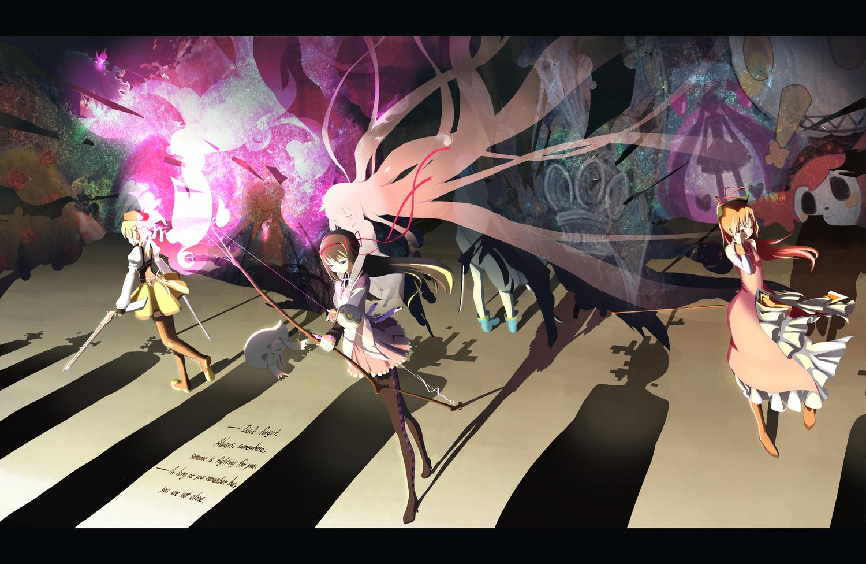 Akemi Homura Charlotte Mahou Shoujo Madoka Magica Kaname Madoka Kyuubee Mahou Shoujo Madoka Magica Miki Sayaka Sakura Kyouko Tomoe Mami Konachan Com Konachan Com Anime Wallpapers