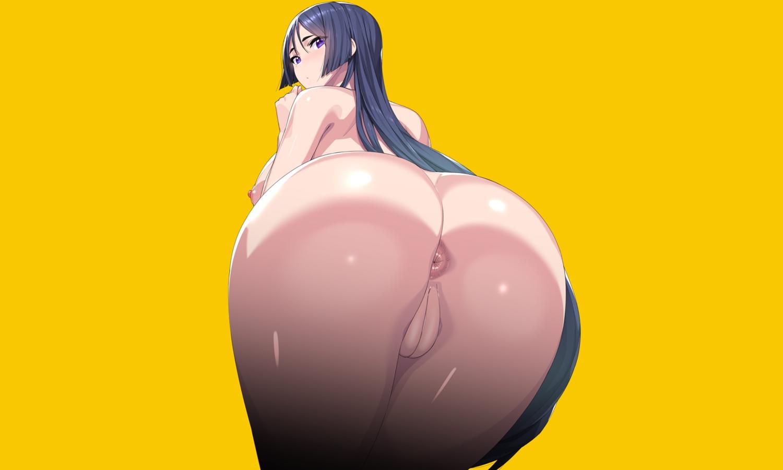 anus ass black_hair breasts close fate/grand_order fate_(series) long_hair minamoto_no_yorimitsu_(fate) munashi_mujou nipples nude purple_eyes pussy uncensored yellow