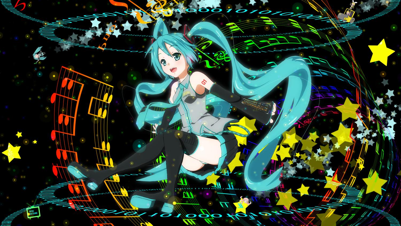 12ko hachune_miku hatsune_miku stars vocaloid