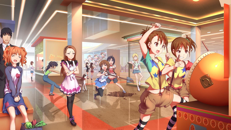 futami_ami futami_mami ganaha_hibiki group hagiwara_yukiho idolmaster idolmaster_cinderella_girls kikuchi_makoto male minase_iori producer_(idolmaster) shibuya_rin shimamura_uzuki tagme_(character) takatsuki_yayoi tokinohimitsu twins