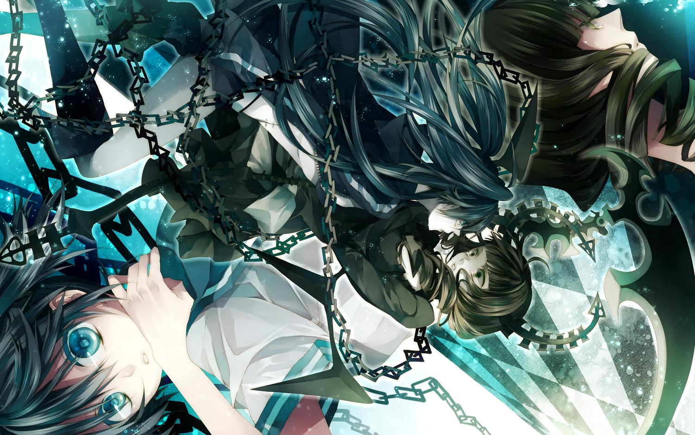 black_rock_shooter chain kuroi_mato tagme_(artist) takanashi_yomi