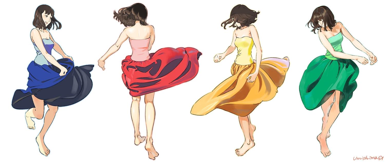 barefoot dress original umishima_senbon