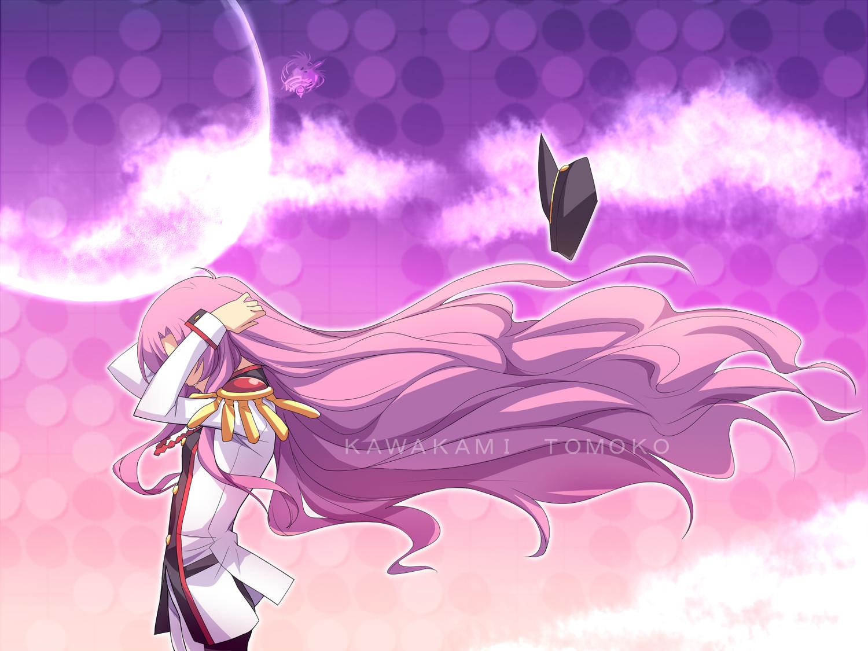 air hat kawakami_tomoko long_hair parody pink_hair revolutionary_girl_utena school_uniform shoujo_kakumei_utena tenjou_utena
