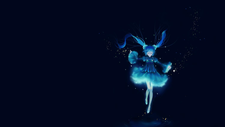 blue dress hatsune_miku tagme vocaloid water yukino_neko