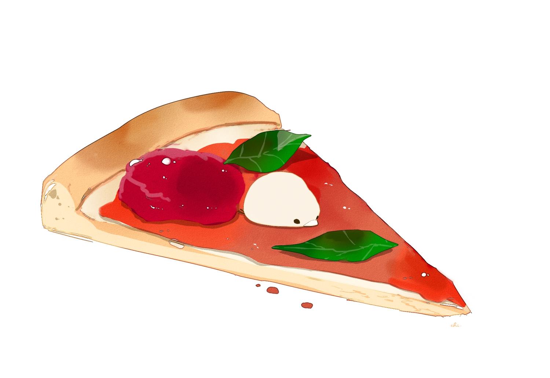 animal bird chai_(artist) food original pizza polychromatic signed white