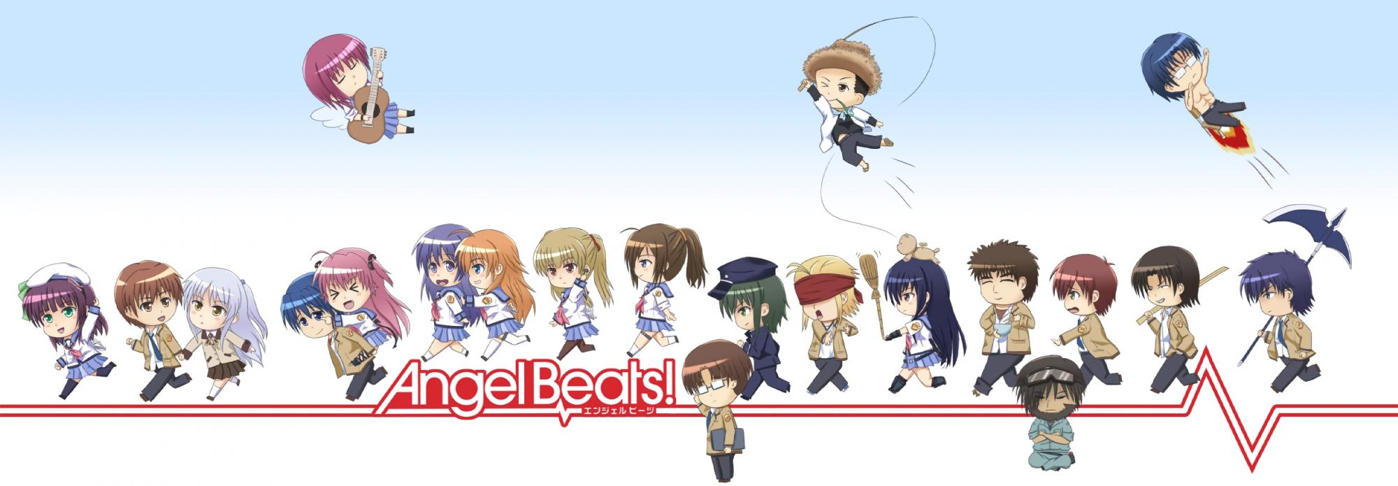 angel_beats! chaa chibi fish_saito fujimaki hinata_hideki hisako irie_miyuki iwasawa_masami matsushita nakamura_yuri naoi_ayato noda ooyama otonashi_yuzuru sekine_shiori shiina tachibana_kanade takamatsu takeyama tk yui_(angel_beats!) yusa