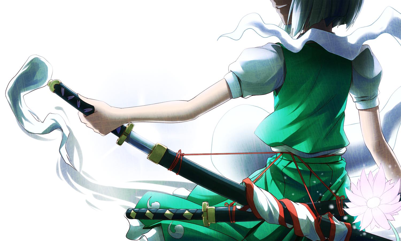 flowers katana konpaku_youmu myon puretails sword touhou weapon