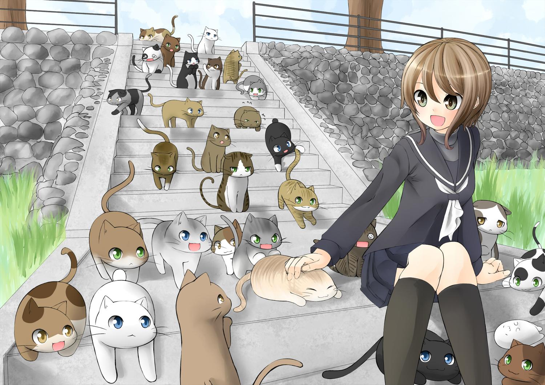 Картинки с животными прикольные аниме